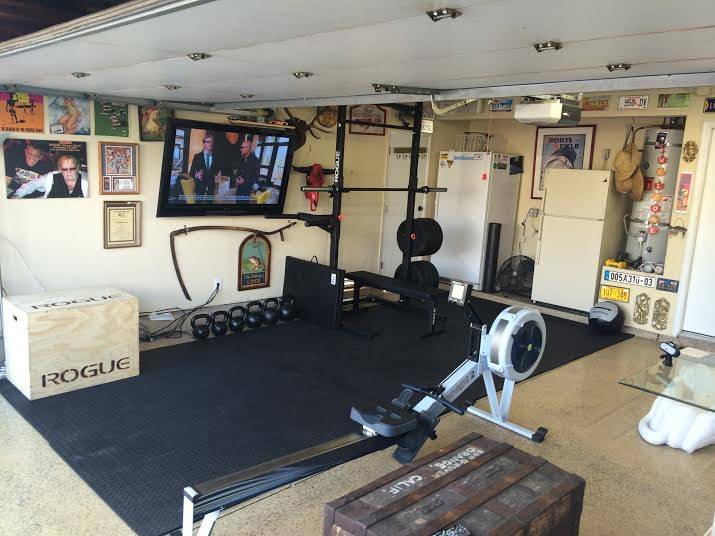 Crossfit garage tv setup box junkies